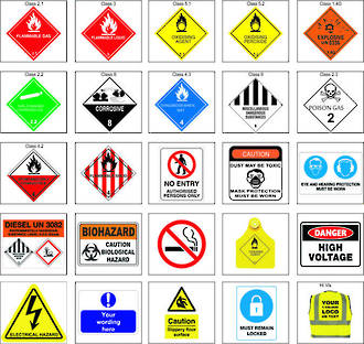 Dangerous Goods Signs & Stickers