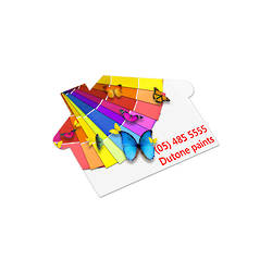 AD Labels 70 x 50mm - House Shaped