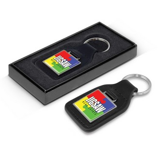 Baron Square Leather Key Ring